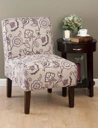Plum Accent Chair Jofran Erica Armless Accent Chair With Floral Fabric Live Well