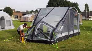 Used Caravan Awnings Kampa Rally Air Inflatable Caravan Awning Youtube