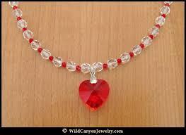 swarovski necklace red images Swarovski red heart pendant necklace jpg