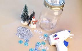 diy how to make mason jar snow globes simplemost