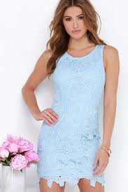light blue dress pretty light blue dress lace dress sheath dress 64 00