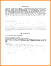 formal lab report template 9 biology lab report exle appeal leter