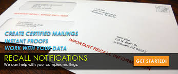 certified mail recall notices letterstream