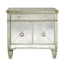 visage silver mirrored nightstand
