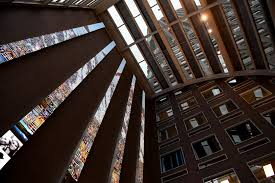 wells fargo center get massive public art by esi design