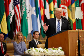 president trump on the world stage on point
