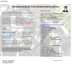 Job Application Resume For Freshers by Freshers U0027tcs U0027 Off Campus For Freshers Procedure To Apply