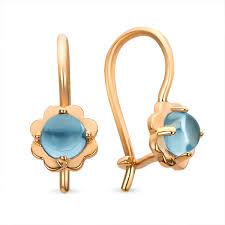 childrens gold earrings buy topaz baby earrings blue eye kids jewelry boutique zarlex