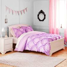 girls purple bedding twin comforter sets for girls