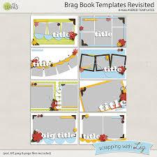 brag book digital scrapbook template brag book scrapping with liz