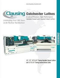 clausing colchester lathes 600 group pdf catalogue technical