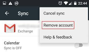 remove account android how to remove an exchange account from android