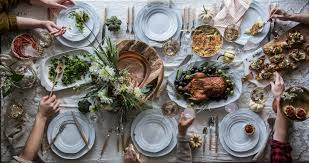 a thanksgiving table set in tennessee anthropologie