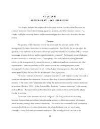 how to write literature review outline