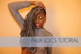 short wraps hairstyle faux locs tutorial on short natural hair kanekalon x pression