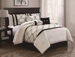 Ivory Comforter Set King King Size Bedding Sets In Black Tokida For