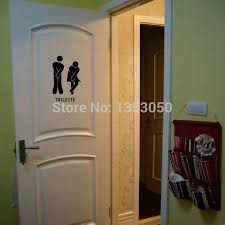 Home Decor France by Aliexpress Com Buy French Wall Stickers Funny Toilet Entrance
