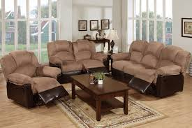 3 piece recliner sofa set suede leather sofa sets www gradschoolfairs com