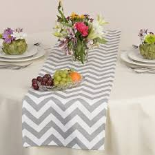 zig zag table runner cheap table runner grey find table runner grey deals on line at
