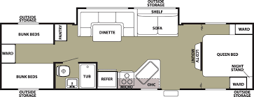 Bunkhouse Trailer Floor Plans Rvs With Bunk Beds Floor Plans Carpet Vidalondon