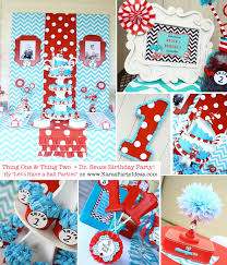 dr seuss birthday party ideas kara s party ideas thing one thing two dr seuss 1st birthday