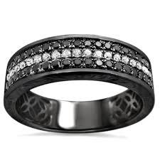 wedding band recommendations noori 14k black gold men s 5 8ct tdw diamond wedding band