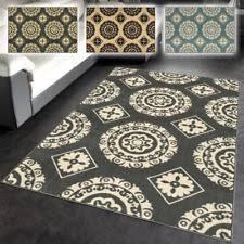 medallion rectangle contemporary area rugs ebay