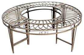 Steel Outdoor Bench Gothic Roundabout Steel Garden Bench Traditional Outdoor
