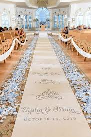 aisle runners and they lived happily after aisle runner with light blue