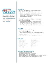 Sample Resume Graphic Design by Resume Graphic Design Resume Example