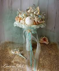 wedding bouquets with seashells shell bouquet starfish bouquet wedding bouquet