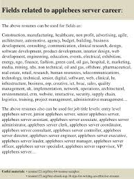 Resume Examples For Servers by Top 8 Applebees Server Resume Samples