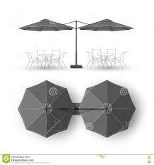 Grey Patio Umbrella by Black Gray Patio Double Outdoor Cafe Bar Pub Lounge Round Umbrella