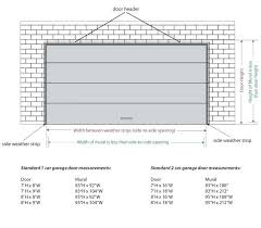 Garage Measurements Backyards Double Garage Door Size Widesingle Car Dimensions