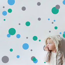 coloured polka dot wall stickers kids houzz coloured polka dot wall stickers