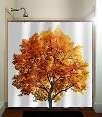 endearing fall shower curtains and fall bathroom sets home hold
