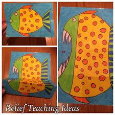 friendly fish or piranha folded art surprise art craft