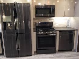 black kitchen appliances kit samsung black stainless steel 4