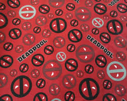 deadpool wrapping paper deadpool fabric etsy