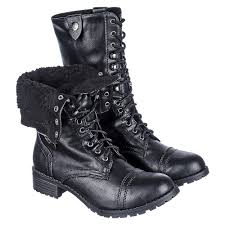 s fold combat boots size 12 shiekh oralee s s black fur fold combat boot shiekh shoes