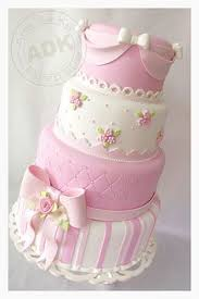 Shabby Chic Baby Shower Cakes by If I Made A Cake For Myself It Would Look Something Like This
