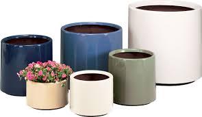 Low Bowl Planters by Furniture Outdoor Bowl Planters Fiberglass Planters