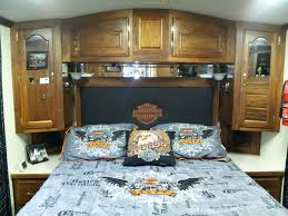 motorhome completed bedroom new curtains painted walls new