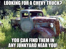 Ford Vs Chevy Meme - ford vs chevy look for the chevy in the junkyard imgflip