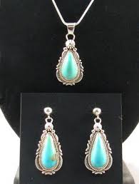 turquoise necklace set images Native american navajo made turquoise necklace and earrings set at jpg