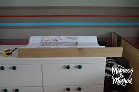 diy baby changing table diy baby change table top madness method