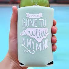 koozies for wedding southern koozie wedding favors carolina wedding favors