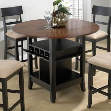 dining room square dark brown wooden tall dining table with set