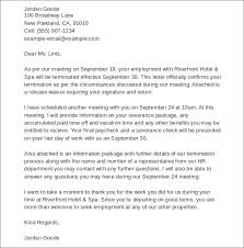 sample termination letters for workplace agreement termination