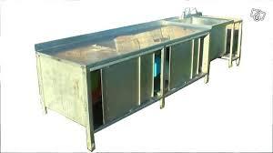 plonge cuisine professionnelle meuble cuisine en inox plinthe cuisine inox plinthe meuble cuisine
